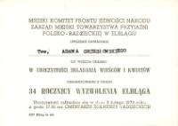 Elbląska Biblioteka Cyfrowa Xxxiv Rocznica Wyzwolenia Elbląga