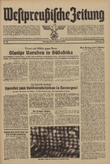 Westpreussische Zeitung, Nr. 28 Montag 3 Februar 1941, 10. Jahrgang
