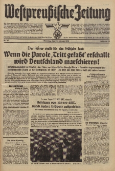 Westpreussische Zeitung, Nr. 47 Dienstag 25 Februar 1941, 10. Jahrgang