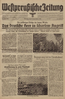 Westpreussische Zeitung, Nr. 204 Montag 1 September 1941, 10. Jahrgang