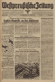 Westpreussische Zeitung, Nr. 226 Freitag 26 September 1941, 10. Jahrgang