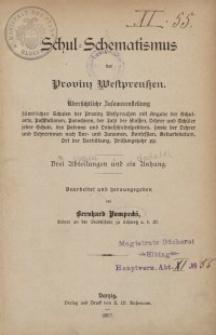 Schul-Schematismus der Provinz Westpreußen