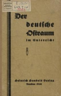 Der deutsche Ostraum im Unterricht. Ein Handbuch für den Lehrer.