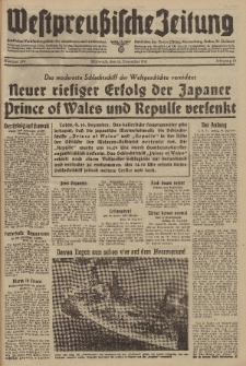 Westpreussische Zeitung, Nr. 290 Mittwoch 10 Dezember 1941, 10. Jahrgang