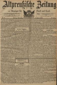 Altpreussische Zeitung, Nr. 2 Donnerstag 3 Januar 1895, 47. Jahrgang