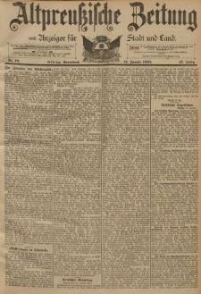 Altpreussische Zeitung, Nr. 10 Sonnabend 12 Januar 1895, 47. Jahrgang