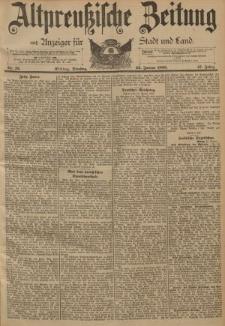 Altpreussische Zeitung, Nr. 18 Dienstag 22 Januar 1895, 47. Jahrgang