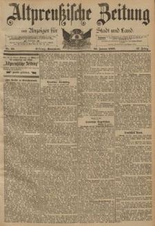 Altpreussische Zeitung, Nr. 22 Sonnabend 26 Januar 1895, 47. Jahrgang