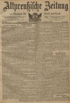 Altpreussische Zeitung, Nr. 37 Mittwoch 13 Februar 1895, 47. Jahrgang