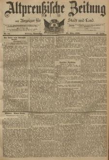 Altpreussische Zeitung, Nr. 74 Donnerstag 28 März 1895, 47. Jahrgang