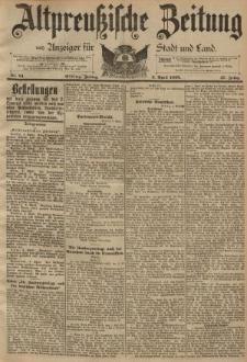 Altpreussische Zeitung, Nr. 81 Freitag 5 April 1895, 47. Jahrgang