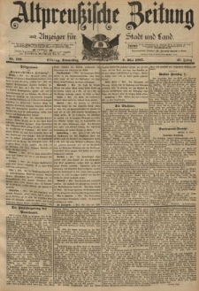 Altpreussische Zeitung, Nr. 102 Donnerstag 2 Mai 1895, 47. Jahrgang
