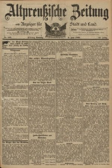 Altpreussische Zeitung, Nr. 128 Sonntag 2 Juni 1895, 47. Jahrgang
