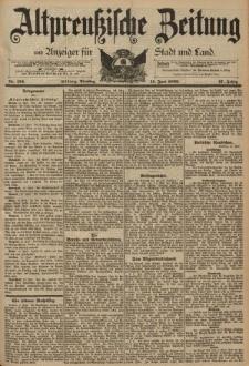 Altpreussische Zeitung, Nr. 134 Dienstag 11 Juni 1895, 47. Jahrgang