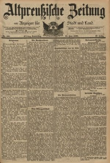 Altpreussische Zeitung, Nr. 136 Donnerstag 13 Juni 1895, 47. Jahrgang
