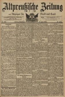 Altpreussische Zeitung, Nr. 138 Sonnabend 15 Juni 1895, 47. Jahrgang