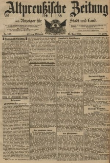 Altpreussische Zeitung, Nr. 147 Mittwoch 26 Juni 1895, 47. Jahrgang