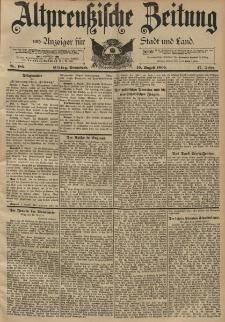 Altpreussische Zeitung, Nr. 186 Sonnabend 10 August 1895, 47. Jahrgang