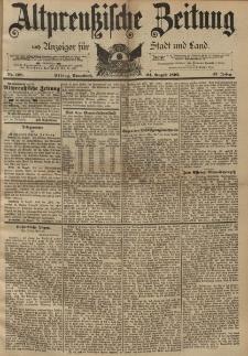 Altpreussische Zeitung, Nr. 198 Sonnabend 24 August 1895, 47. Jahrgang