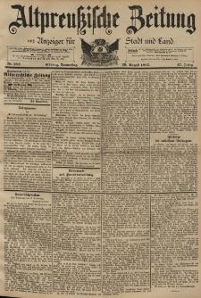 Altpreussische Zeitung, Nr. 202 Donnerstag 29 August 1895, 47. Jahrgang