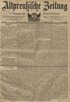 Altpreussische Zeitung, Nr. 212 Dienstag 10 September 1895, 47. Jahrgang