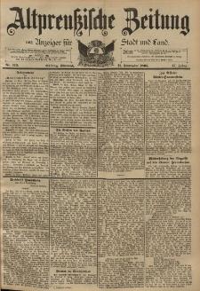 Altpreussische Zeitung, Nr. 213 Mittwoch 11 September 1895, 47. Jahrgang