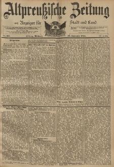 Altpreussische Zeitung, Nr. 219 Mittwoch 18 September 1895, 47. Jahrgang