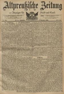 Altpreussische Zeitung, Nr. 258 Sonnabend 2 November 1895, 47. Jahrgang