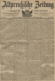 Altpreussische Zeitung, Nr. 266 Dienstag 12 November 1895, 47. Jahrgang