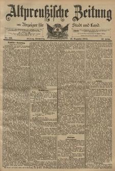 Altpreussische Zeitung, Nr. 291 Donnerstag 12 Dezember 1895, 47. Jahrgang