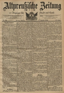 Altpreussische Zeitung, Nr. 295 Dienstag 17 Dezember 1895, 47. Jahrgang