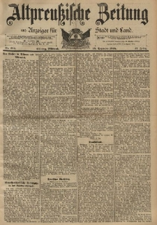 Altpreussische Zeitung, Nr. 296 Mittwoch 18 Dezember 1895, 47. Jahrgang