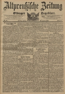 Altpreussische Zeitung, Nr. 18 Freitag 22 Januar 1897, 49. Jahrgang