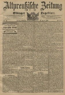 Altpreussische Zeitung, Nr. 22 Mittwoch 27 Januar 1897, 49. Jahrgang
