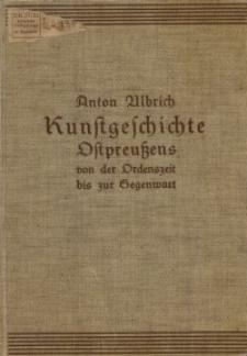 Kunstgeschichte Ostpreußens von der Ordenszeit bis zur Gegenwart