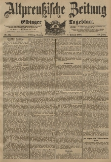 Altpreussische Zeitung, Nr. 32 Sonntag 7 Februar 1897, 49. Jahrgang