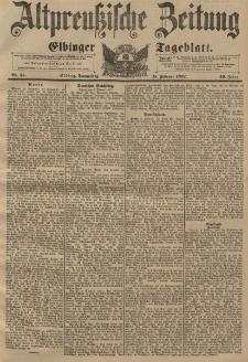 Altpreussische Zeitung, Nr. 35 Donnerstag 11 Februar 1897, 49. Jahrgang