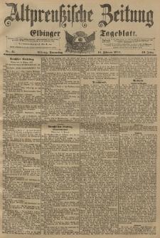 Altpreussische Zeitung, Nr. 41 Donnerstag 18 Februar 1897, 49. Jahrgang