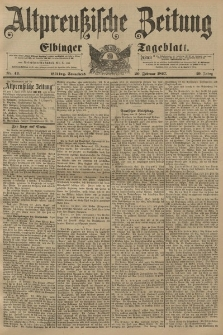 Altpreussische Zeitung, Nr. 43 Sonnabend 20 Februar 1897, 49. Jahrgang