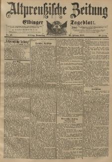 Altpreussische Zeitung, Nr. 47 Donnerstag 25 Februar 1897, 49. Jahrgang