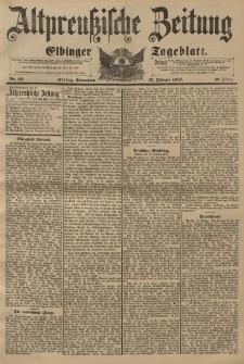 Altpreussische Zeitung, Nr. 49 Sonnabend 27 Februar 1897, 49. Jahrgang