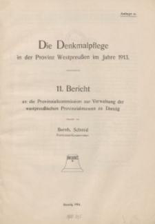 Die Denkmalpflege in der Provinz Westpreußen im Jahre 1913