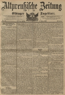 Altpreussische Zeitung, Nr. 54 Freitag 5 März 1897, 49. Jahrgang