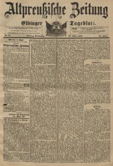 Altpreussische Zeitung, Nr. 71 Donnerstag 25 März 1897, 49. Jahrgang