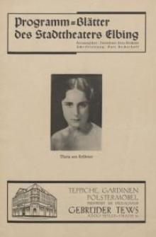 """Programm-blätter des Stadttheaters Elbing - """"Minna von Barnhelm"""""""