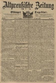 Altpreussische Zeitung, Nr. 87 Dienstag 13 April 1897, 49. Jahrgang