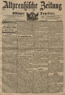 Altpreussische Zeitung, Nr. 93 Donnerstag 22 April 1897, 49. Jahrgang