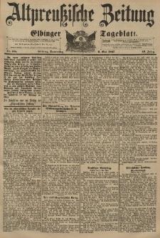Altpreussische Zeitung, Nr. 105 Donnerstag 6 Mai 1897, 49. Jahrgang