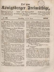 Der neue Königsberger Freimüthige, Nr. 10 Dienstag, 25 Januar 1853