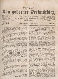 Der neue Königsberger Freimüthige, Nr. 24 Sonnabend, 26 Februar 1853